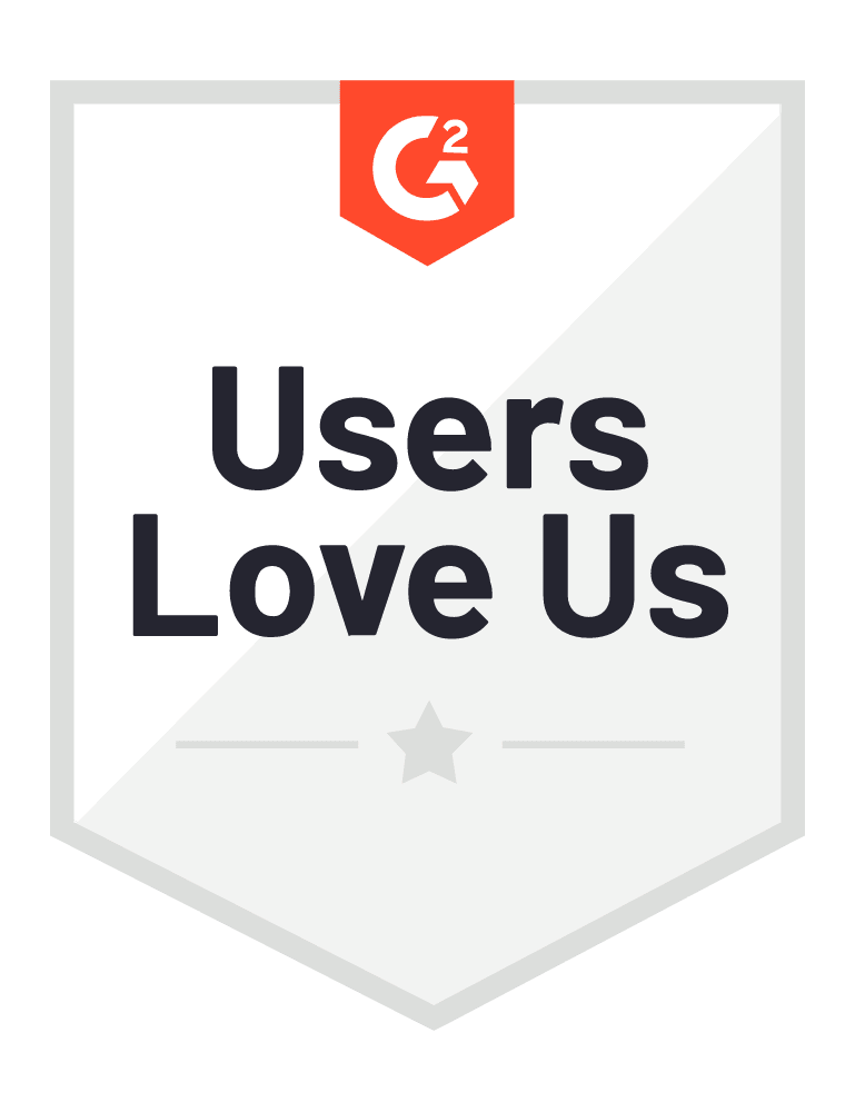 Users Love Us badge from G2.