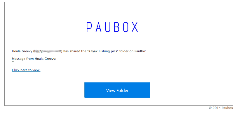 Paubox Help Center - Sharing Files and Folders figure 3