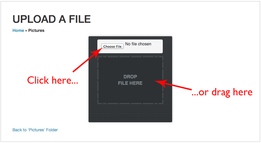 Select a file to upload
