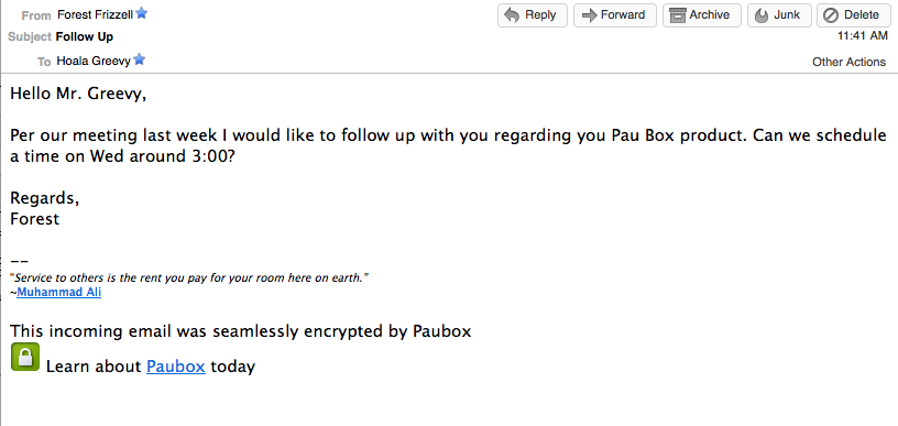 Paubox Inbound encryption for email