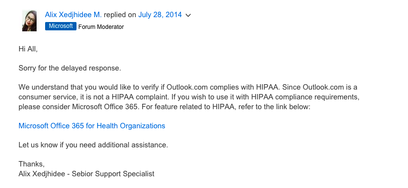 Is Hotmail HIPAA Compliant? - Paubox
