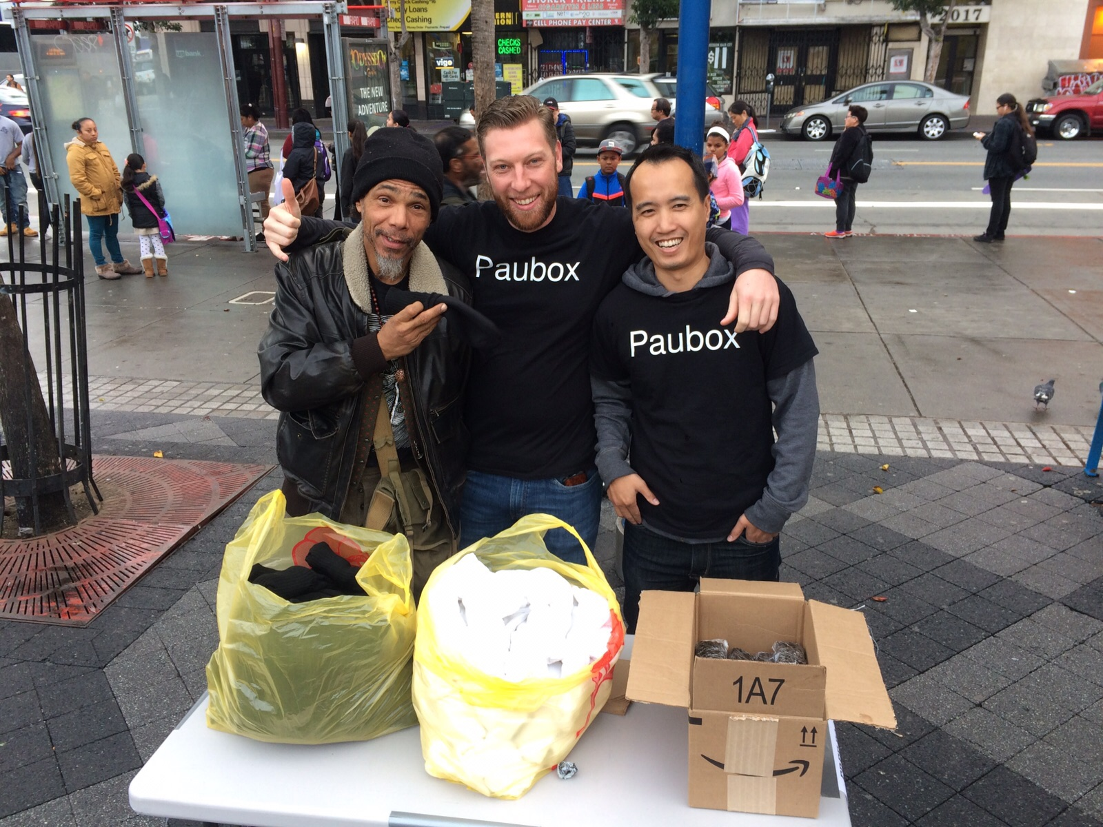 Mahalo to the Mission: 100 spam musubi and 100 pairs of socks