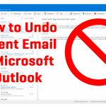 How to Undo A Sent Email in Microsoft Outlook (With Pictures)