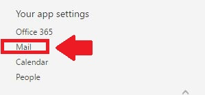 office 365 settings, office 365 your app settings,
