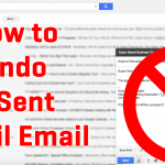 How to Undo A Sent Email in Gmail (With Pictures)