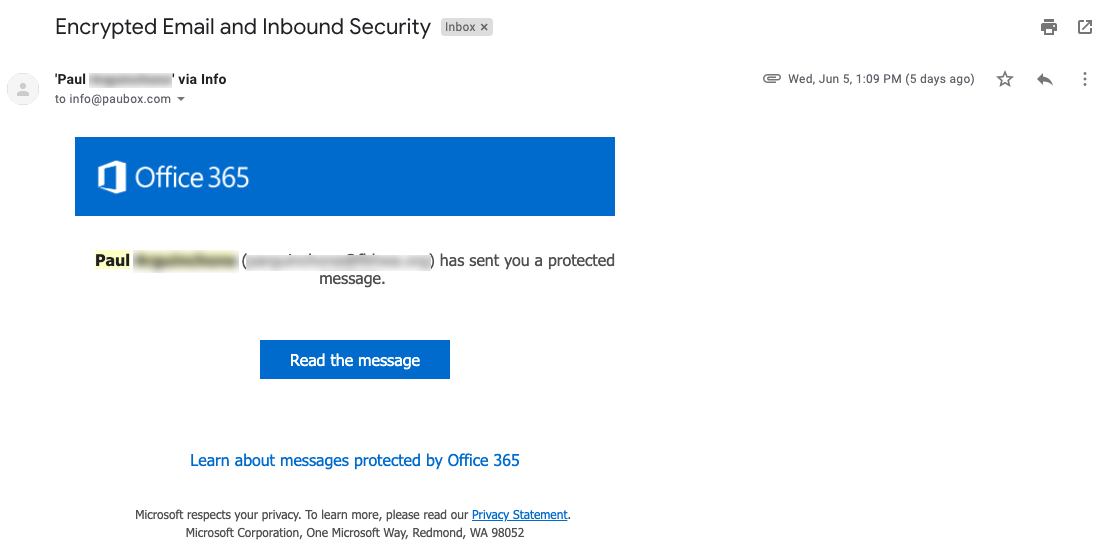 Paubox vs. Office 365 Encrypted Email