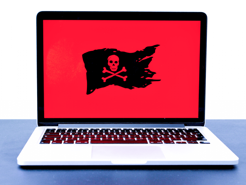 ransomware flag on mac laptop
