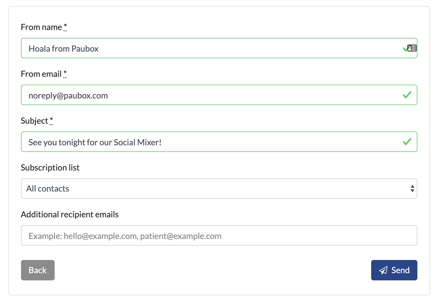 Additional Email Recipients field added to Project Orca campaigns   Paubox