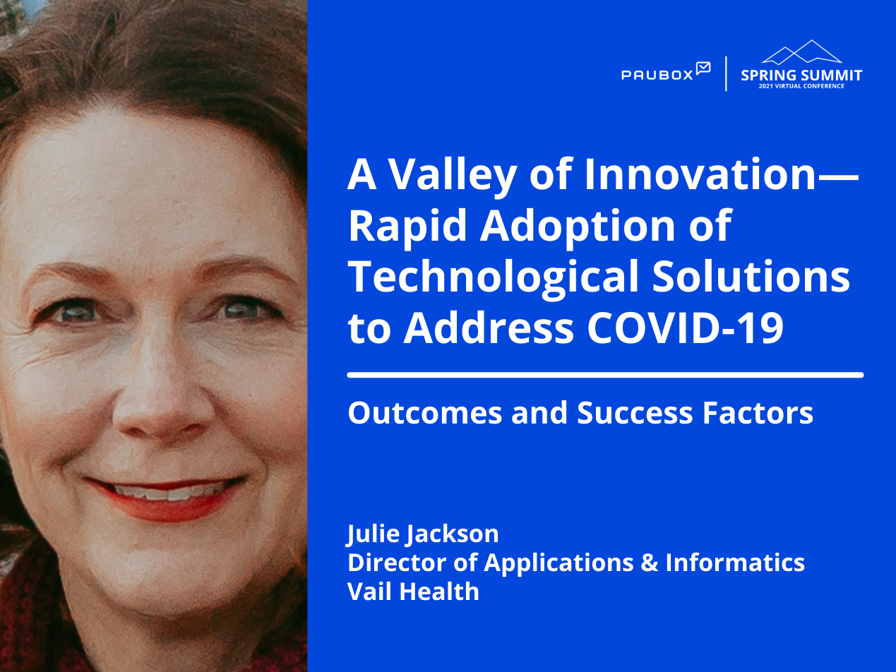 Julie Jackson: Outcomes and success factors of rapid adoption of technological solutions