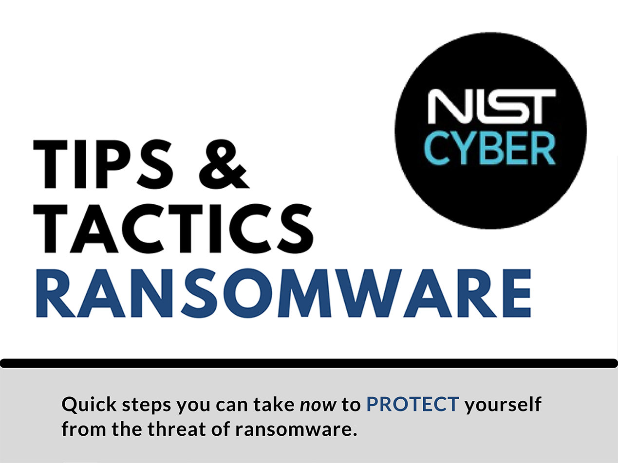 NIST weighs in with ransomware tips