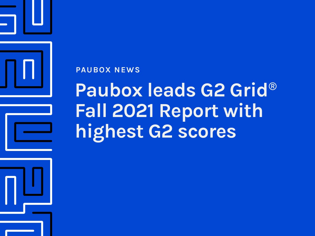 Paubox leads G2 Grid® Fall 2021 Report with highest G2 scores